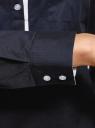 Рубашка приталенная с нагрудными карманами oodji #SECTION_NAME# (синий), 11403222-3/42468/7900N - вид 5