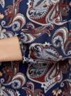 Блузка свободного кроя с вырезом-капелькой oodji #SECTION_NAME# (синий), 21400321-2/33116/7937E - вид 5
