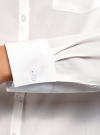 Блузка с нагрудными карманами и регулировкой длины рукава oodji #SECTION_NAME# (белый), 11400355-9B/42807/1200N - вид 5
