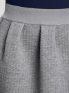 Юбка из фактурной ткани на эластичном поясе oodji #SECTION_NAME# (серый), 14100019-1/43642/2300M - вид 4
