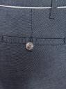Брюки хлопковые с контрастной отделкой oodji #SECTION_NAME# (серый), 11703063-6/46602/7910B - вид 4