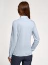Рубашка прямого силуэта с потайной застежкой oodji для женщины (синий), 21411066B/42083/7000N