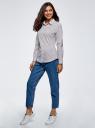 Рубашка хлопковая с вышивкой oodji для женщины (белый), 13K11007/45387/1079S