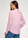 Блузка базовая из вискозы oodji #SECTION_NAME# (розовый), 11411136B/26346/4000N - вид 3