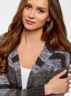 Кардиган полосатый с капюшоном oodji для женщины (серый), 63205244/46133/2520S - вид 4