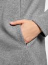 Кардиган на искусственном меху с запахом oodji #SECTION_NAME# (серый), 19207001/18586/2300M - вид 5