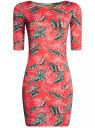 Платье трикотажное облегающее oodji #SECTION_NAME# (красный), 14001121-3B/16300/4366F