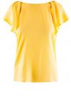 Блузка из вискозы с рукавами-крылышками oodji #SECTION_NAME# (желтый), 11411106/45542/5200N