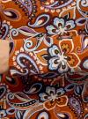 Футболка с длинным рукавом и вырезом-капелькой на спине oodji #SECTION_NAME# (коричневый), 14201034/46147/3770E - вид 5