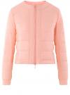 Куртка стеганая с круглым вырезом oodji #SECTION_NAME# (розовый), 10203050-2B/47020/4001N