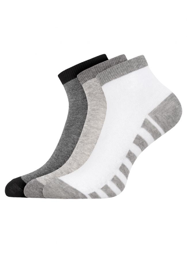 Комплект из трех пар укороченных носков oodji для женщины (разноцветный), 57102418T3/47469/19SPS