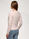 Кардиган вязаный на пуговицах oodji для женщины (розовый), 63210148/50083/4035R