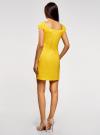 Платье хлопковое со сборками на груди oodji #SECTION_NAME# (желтый), 11902047-2B/14885/5100N - вид 3