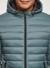 Куртка стеганая с капюшоном oodji #SECTION_NAME# (синий), 1B112009M/25278N/7501N - вид 4