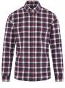 Рубашка хлопковая с длинным рукавом oodji для мужчины (красный), 3L310197M/50176N/4979C