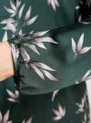 Блузка свободного кроя с вырезом-капелькой oodji #SECTION_NAME# (зеленый), 21400321-2/33116/6923O - вид 5
