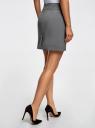 Юбка короткая базовая oodji для женщины (серый), 11600399-1B/14917/2500M