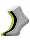 Комплект из трех пар хлопковых носков oodji #SECTION_NAME# (разноцветный), 57102806T3/48417/3 - вид 2