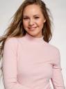 Водолазка базовая из хлопка oodji для женщины (розовый), 15E11009B/48002/4000M