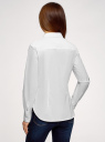 Рубашка базовая из хлопка oodji для женщины (белый), 13K03007B/26357/1000N