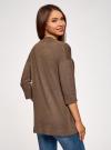 Кардиган без застежки с карманами oodji #SECTION_NAME# (коричневый), 73212397B/45904/3900M - вид 3