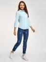 Рубашка с нагрудным карманом и рукавом 3/4 oodji для женщины (зеленый), 13K01005B/42083/6501N