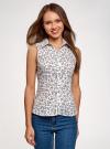 Рубашка базовая без рукавов oodji #SECTION_NAME# (белый), 14905001-1B/12836/1070F - вид 2