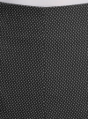 Шорты из жаккардовой ткани с высокой посадкой oodji #SECTION_NAME# (черный), 11800030-4/49847/2910D - вид 4