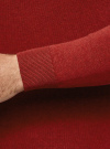 Джемпер базовый с круглым воротом oodji #SECTION_NAME# (красный), 4B112003M/34390N/4502M - вид 5