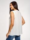 Блузка вискозная с нагрудными карманами oodji #SECTION_NAME# (белый), 21412132-6B/48756/1200N - вид 3