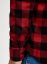 Рубашка хлопковая с длинным рукавом oodji #SECTION_NAME# (красный), 3L320016M/39882N/4529C - вид 5