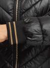 Куртка стеганая с круглым вырезом oodji для женщины (черный), 10203079/49439/2900B - вид 5