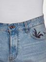 Шорты джинсовые с принтом oodji #SECTION_NAME# (синий), 6L220020M/35771/7400W - вид 4