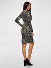 Платье трикотажное с этническим принтом oodji #SECTION_NAME# (черный), 24001070-4/15640/2933E - вид 3