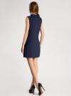 Платье без рукавов прямого кроя oodji #SECTION_NAME# (синий), 11900169/38269/7900N - вид 3
