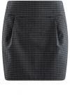 Юбка короткая с карманами oodji #SECTION_NAME# (синий), 11605056-2/22124/7937C