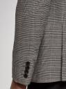 Пиджак прямой в клетку oodji для мужчины (бежевый), 2L420285M-1/50198N/1233C