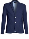 Пиджак приталенный с накладными карманами oodji #SECTION_NAME# (синий), 2B510005M/39355N/7500N