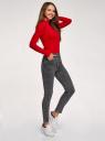 Джинсы skinny с высокой талией oodji для женщины (серый), 12103171-1/46920/2300W