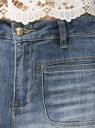 Джинсы клешеные с модными потертостями oodji для женщины (синий), 12102078/42879/7000W