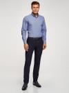 Рубашка приталенная с пуговицами на воротнике oodji #SECTION_NAME# (синий), 3L110243M/19370N/1075F - вид 6