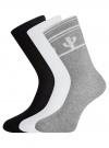 Комплект высоких носков (3 пары) oodji #SECTION_NAME# (разноцветный), 57102902T3/47469/57 - вид 2