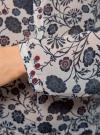 Блузка принтованная из шифона oodji #SECTION_NAME# (слоновая кость), 21401246-2M/17358/3079F - вид 5