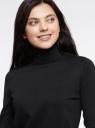 Свитер вязаный базовый oodji для женщины (черный), 74412005-5B/45755/2900N