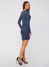 Платье вязаное базовое oodji для женщины (синий), 73912217-2B/33506/7500M - вид 3