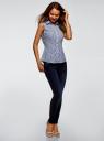 Рубашка базовая без рукавов oodji #SECTION_NAME# (синий), 14905001B/45510/1079A - вид 6