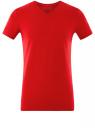 Футболка базовая с V-образным вырезом oodji для мужчины (красный), 5B612002M/46737N/4500N