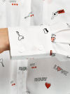 Блузка вискозная с нагрудными карманами oodji #SECTION_NAME# (белый), 11411201/24681/1229O - вид 5