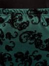 Юбка-карандаш с принтом из флока oodji #SECTION_NAME# (зеленый), 14101083/42376/6929E - вид 4