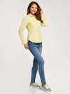Рубашка базовая с нагрудными карманами oodji #SECTION_NAME# (желтый), 11403222B/42468/5000N - вид 6